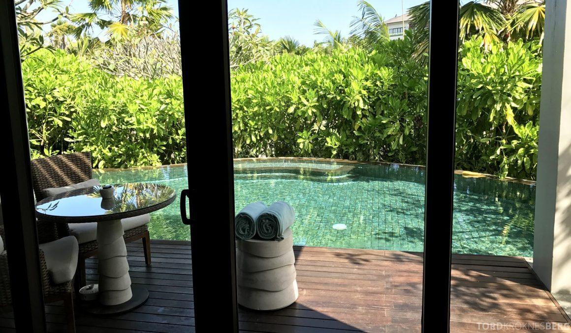 Ritz-Carlton Bali pavilion suite terrasse