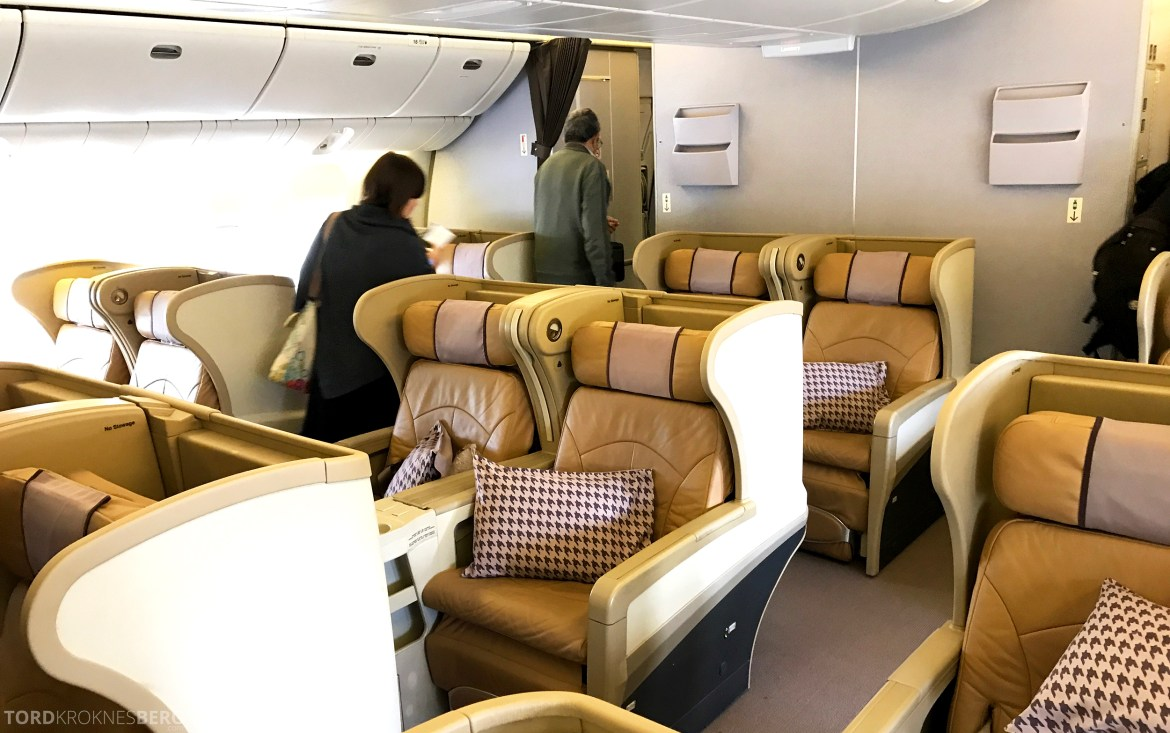 Singapore Airlines Business Class Canberra Wellington seter