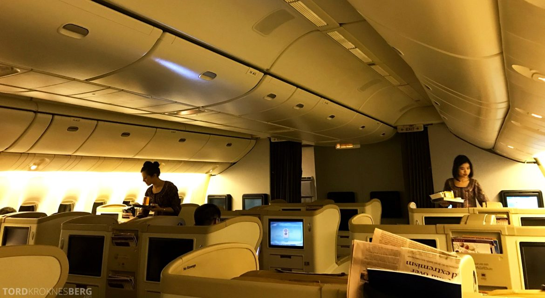 Singapore Airlines Business Class Wellington Canberra Changi appetittvekker