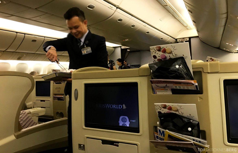 Singapore Airlines Business Class Wellington Canberra Changi varm klut