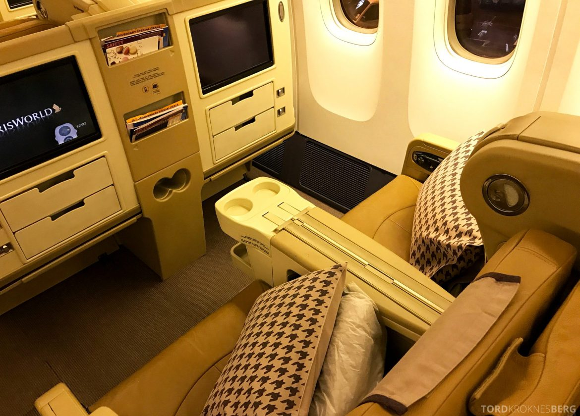 Singapore Airlines Business Class Wellington Canberra Changi sete