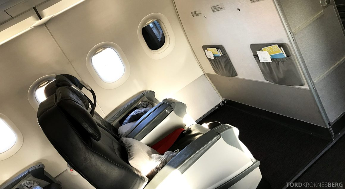 Turkish Airlines Business Class Istanbul Oslo seter