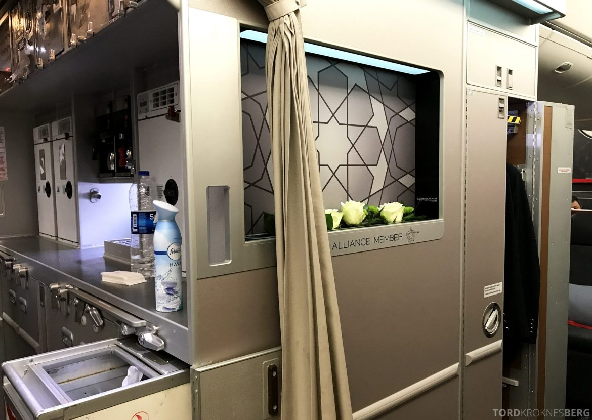 Turkish Airlines Business Class Jakarta Istanbul galley