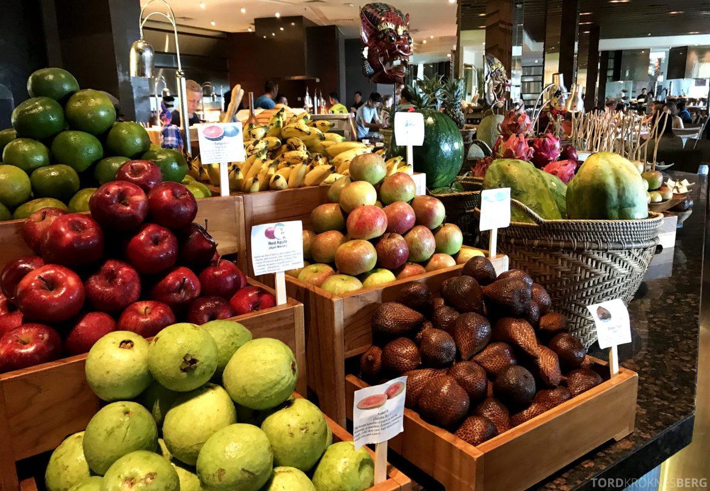 Ritz-Carlton Bali frokost frukt