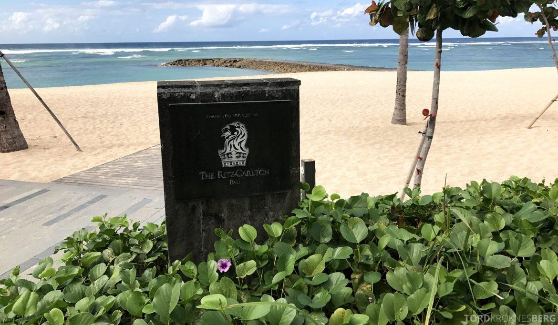 Ritz-Carlton Bali adkomst strand
