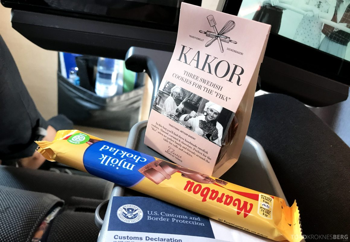 SAS Plus Oslo San Francisco snacks