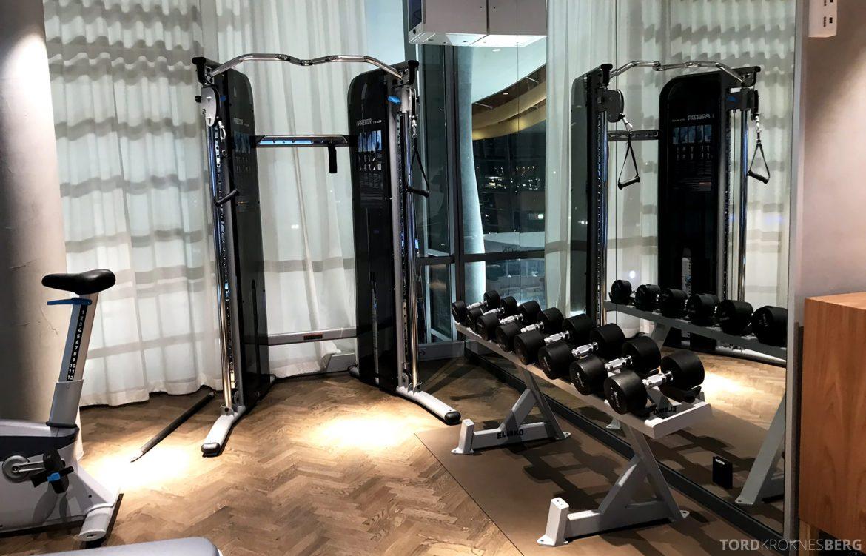 SAS Lounge Oslo Innland treningssenter vekter