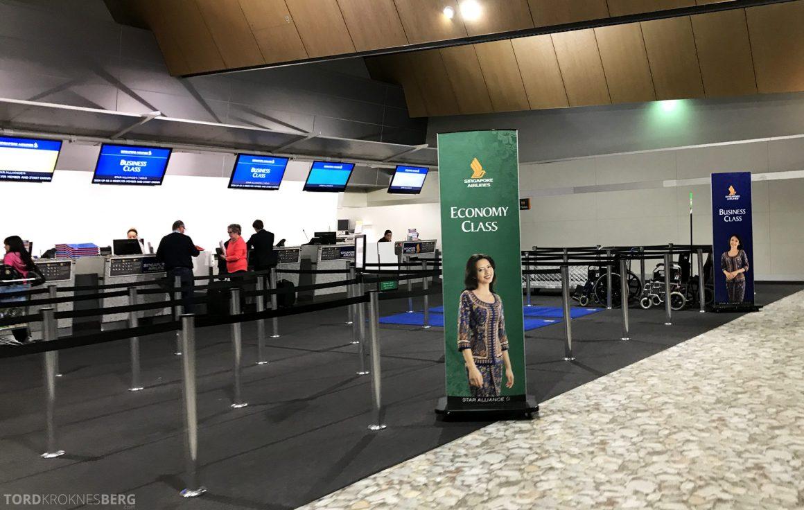 Singapore Airlines Business Class Wellington Canberra Changi innsjekk