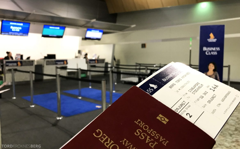 Singapore Airlines Business Class Wellington Canberra Changi billett