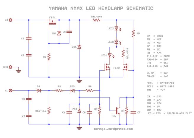 Yamaha NMAX LED Headlight | torega