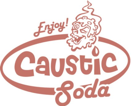 Caustic Soda Podcast (appears on web, clothing, etc)Caustic Soda Podcast (appears on web, clothing, etc)