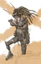 Post-apocalyptic Cyborg drawn by Toren Atkinson