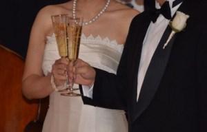 結婚式・シャンパン