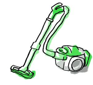 掃除機・緑色
