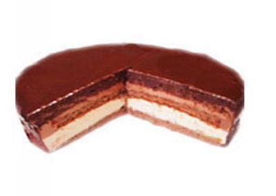 チョコと杏のムースケーキ