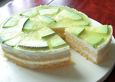 メロンのムースケーキ
