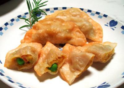 カレー味の餃子(サモサ風味)