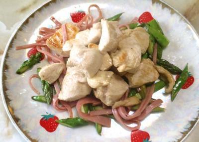 鶏肉とアスパラのソテー