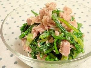 春菊(菊菜)とツナの和えるだけ~♪:楽天レシピのススメ