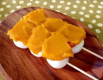 かぼちゃ餡のせ☆豆腐団子:楽天レシピのすすめ