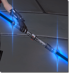 Warmasters DoubleBladed Lightsaber