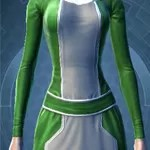 Deep Green and White Dye Customization
