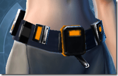 Gold Scalene Female Utility Belt