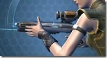Gray Helix Blaster Rifle - Left