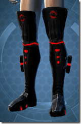 Red Scalene Male Boots
