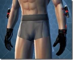 Red Scalene Male Gauntlets