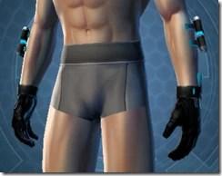 White Scalene Male Gauntlets