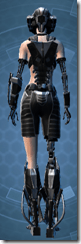 B-100 Cyberbetic Armor - Female Back