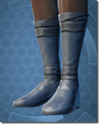 Bantha Hide Footgear - Female Left