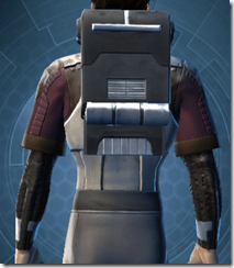 Bolted Body Armor - Male Back