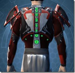 Advanced Composite Flex Body Armor - Male Back