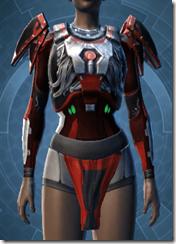 Advanced Nerve Suppression Chestguard - Female Front