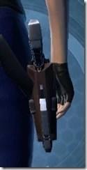 Crystalline Demolisher's Blaster Pistol MK-3 Stowed