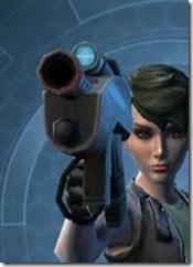 Crystalline Targeter's Blaster Pistol MK-3 Front