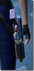 Decorated Targeter's Blaster Pistol MK-3 Stowed