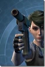Requisitioned Targeter's Blaster Pistol MK-3 Front