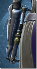 Righteous Mystic's Saberstaff Stowed