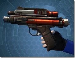 Ferrocarbon Onslaught Blaster Pistol Left