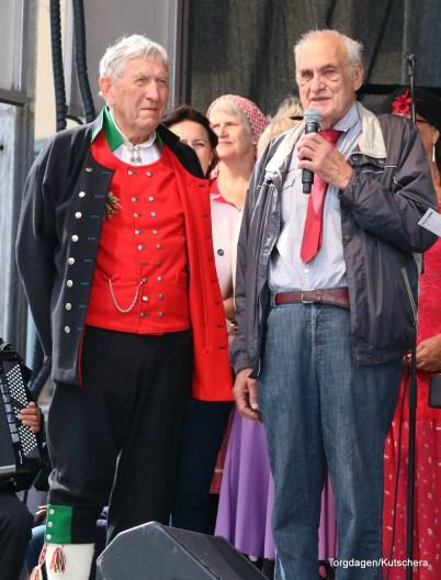 Kjartan Rødland og Nils Harald Lie fortalte om den første Torgdagen i Bergen, frå oppstarten i 1977