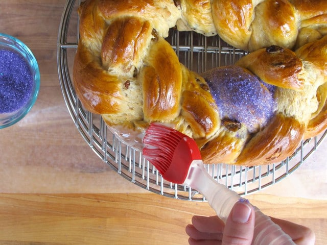 A traditional recipe for King Cake from food historian Gil Marks on The History Kitchen