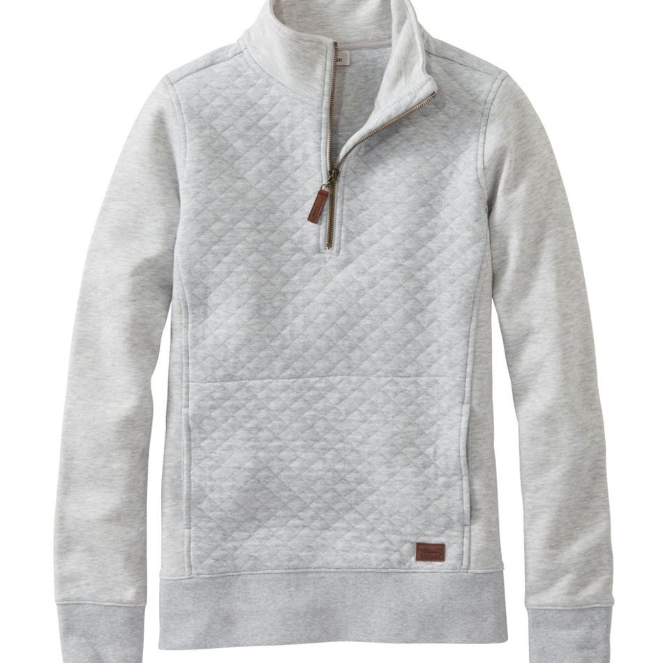 L.L. Bean Women's Quilted Quarter-Zip Pullover