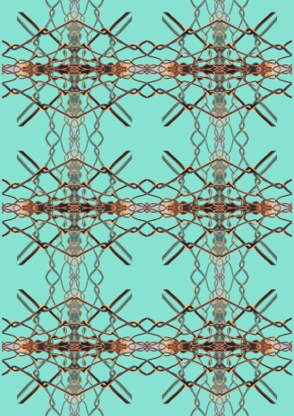 fence print.circles turquoise psd