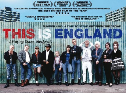 Cover of the move 'This is England'. Representing the skin head look of the 1960's. http://www.kinomania.ru/images/posters/p_4704.jpg