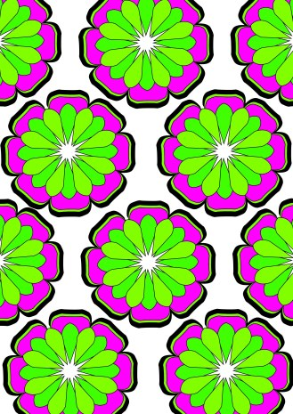 pink and green flower repeat