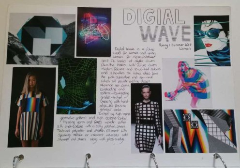 WGSN initial reseach including information about the forecasting trend and imagery to relate.