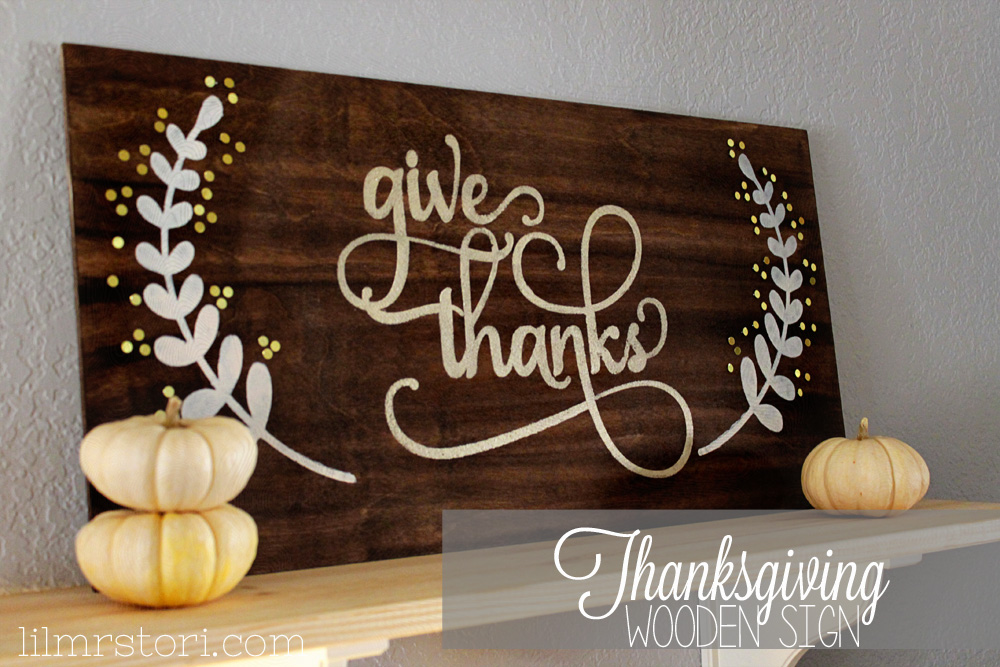 Make Your Own Thanksgiving Sign
